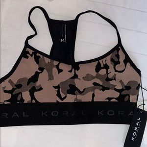 Koral Activewear Sweeper Sports Bra Nude Camo